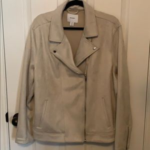 Old Navy beige suede jacket